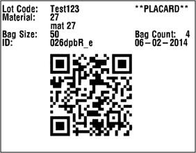 WEM Placard 2D bar code picture