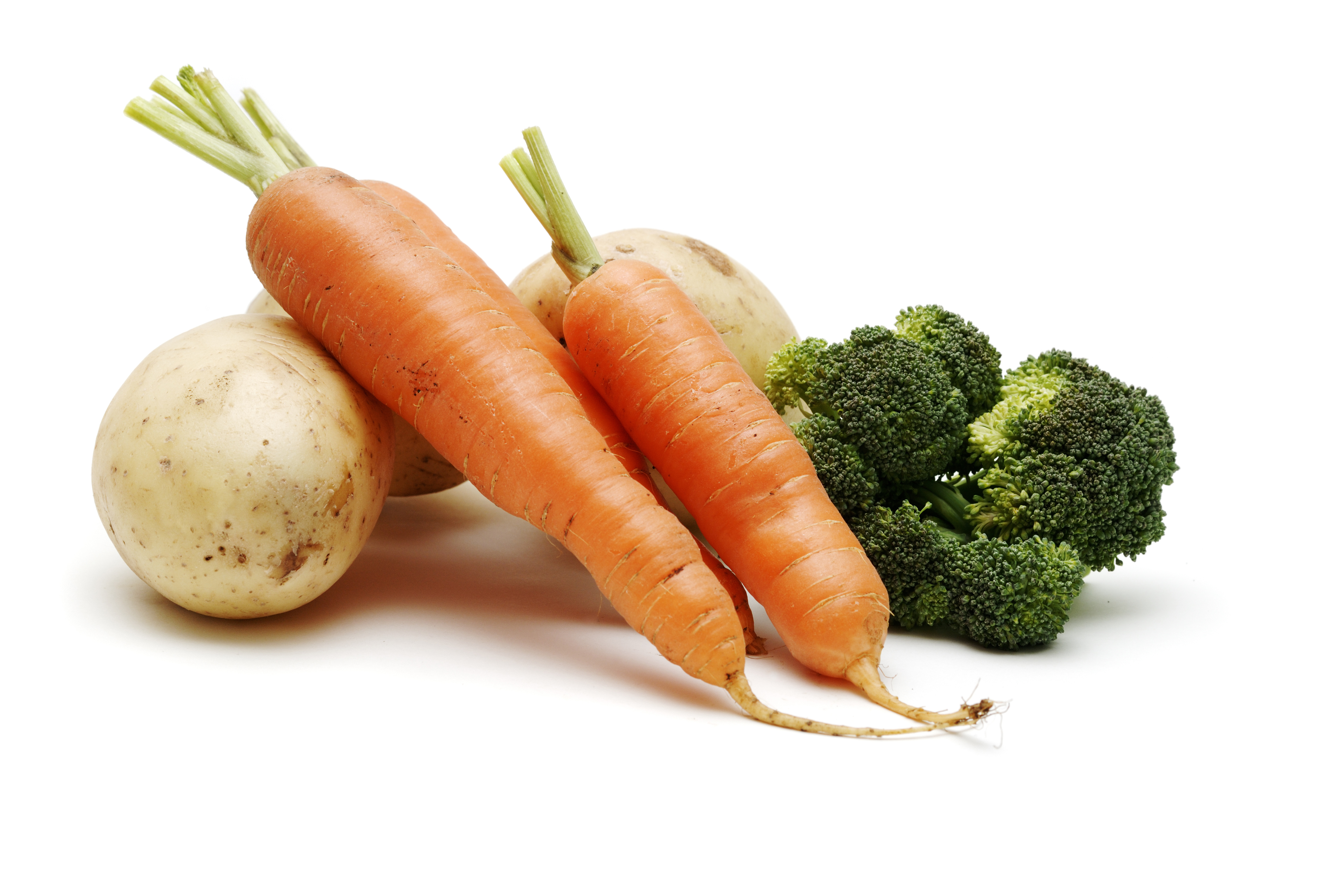 Country vegetables isolated against white healthy diet